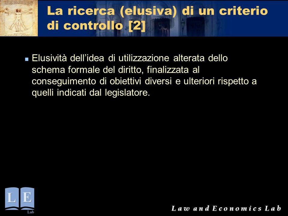 La ricerca (elusiva) di un criterio di controllo [2]